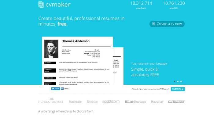 Situs membuat CV online profesional dan gratis