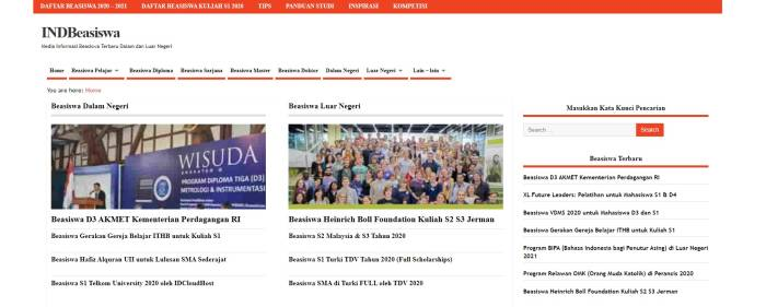 Situs informasi beasiswa kuliah terupdate