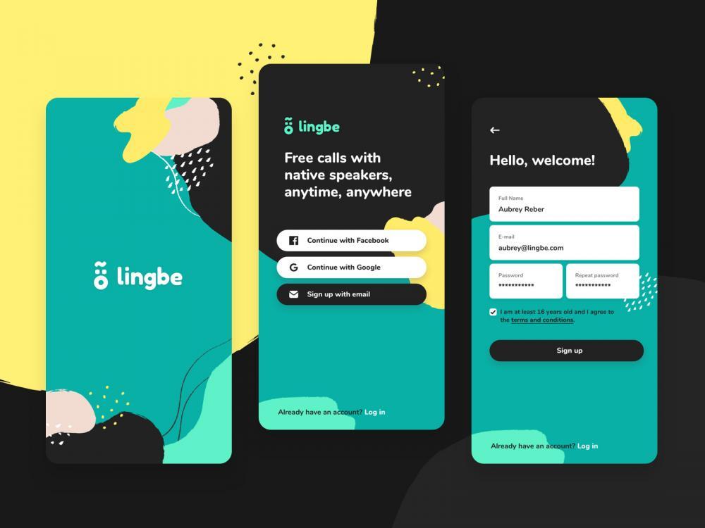 Aplikasi belajar bahasa Inggris populer Lingbe