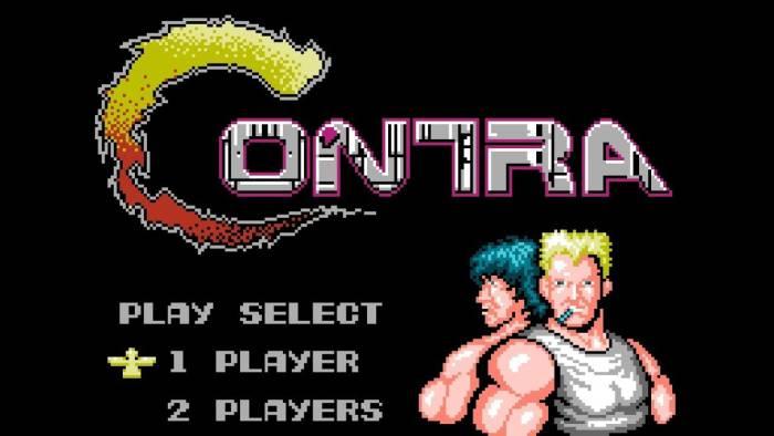 Game Contra di console NES