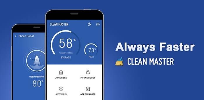 Aplikasi pembersih junk file Clean Master