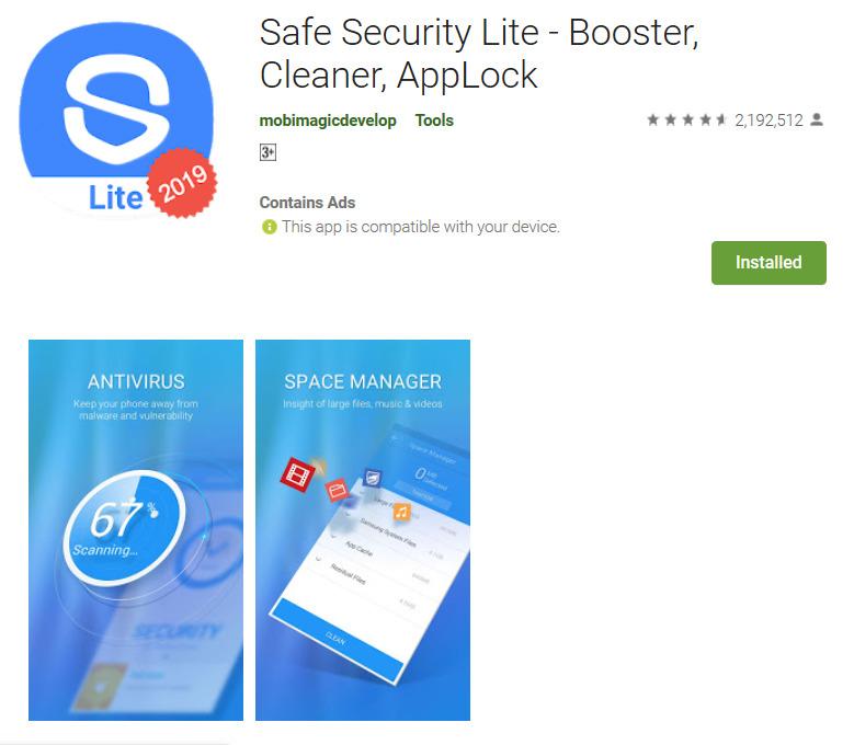 Aplikasi pembersih junk file 360 Security Lite