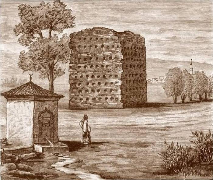 Menara Tengkorak di Serbia.