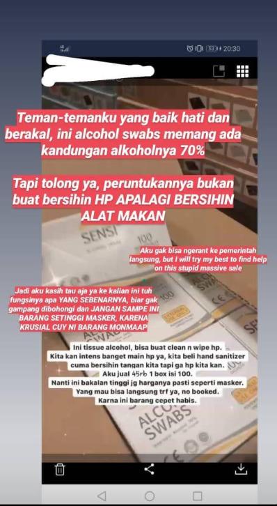 Viral! Bahaya Alcohol Swab untuk Pembersih Alat Makan