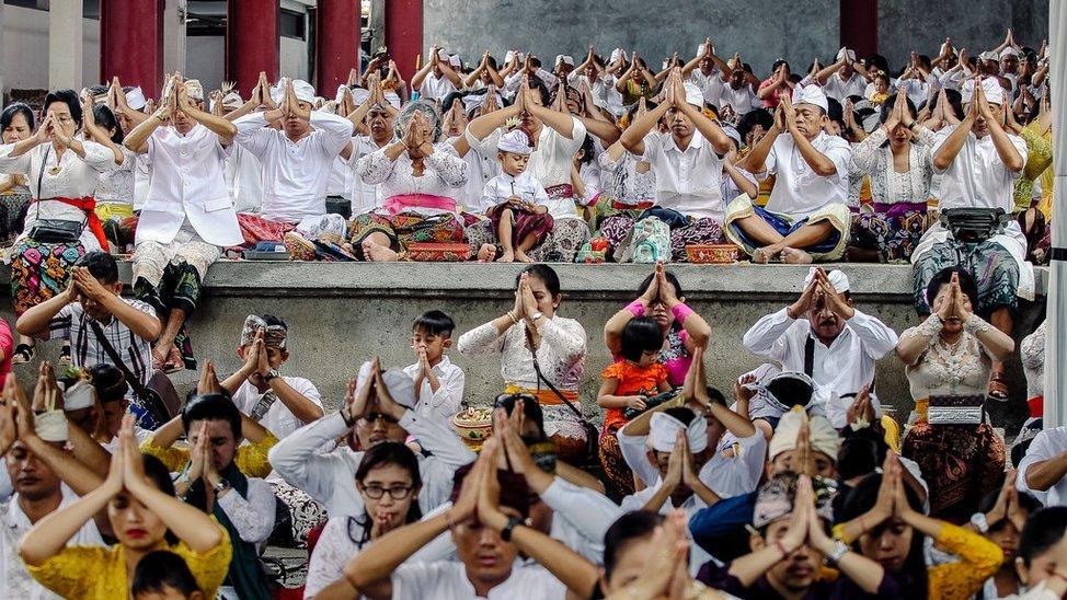 Tradisi Hari Raya Nyepi upacara Tawur Kesanga umat Hindu
