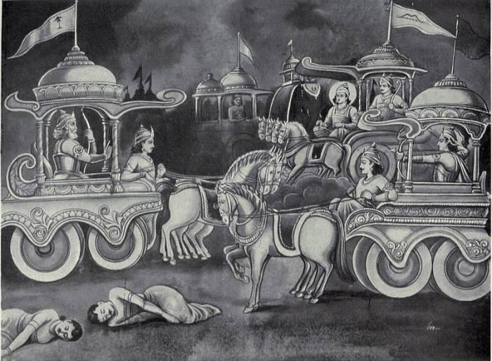 Pertarungan Srikandi dan Bisma dalam Barathayudha