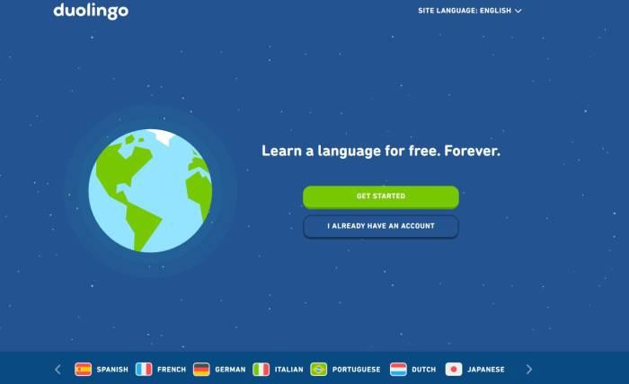 Situs belajar bahasa Inggris online Duolingo