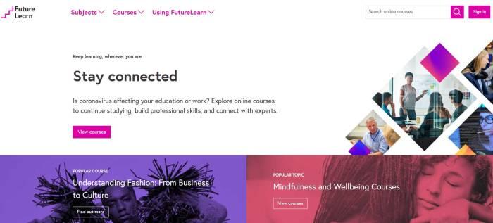 Situs belajar bahasa Inggris terbaik FutureLearn