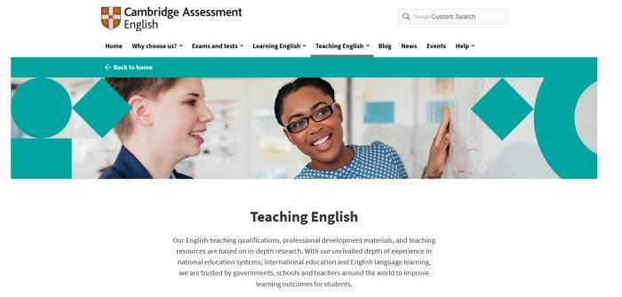 Website belajar bahasa Inggris Cambridge English Online