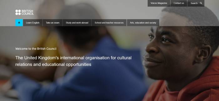 Situs belajar bahasa Inggris online gratis British Council