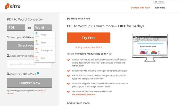 Situs konversi file PDF ke Word gratis PDF to Word