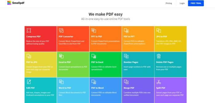 Situs konverter file PDF ke Word online Small PDF