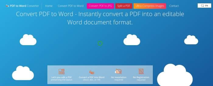 Website konverter PDF ke Word gratis PDF Word Convert