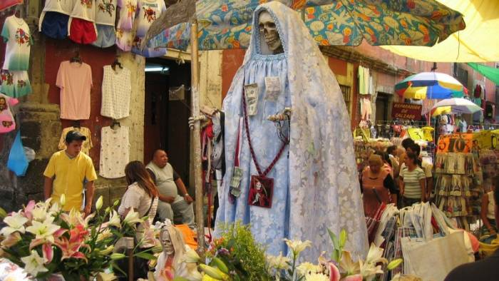 Ilustrasi Santa Muerte.