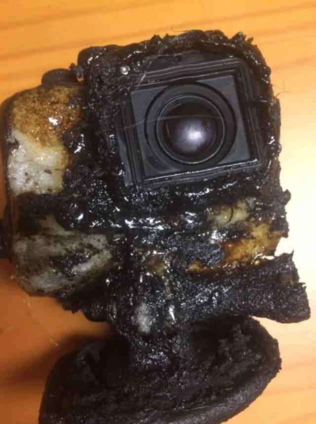 GoPro tersebut ternyata masih berfungsi