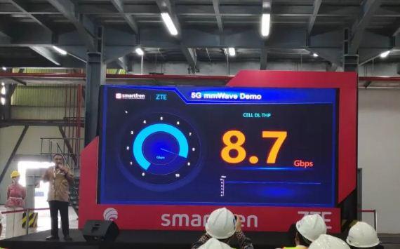 Uji coba jaringan 5G Smartfren