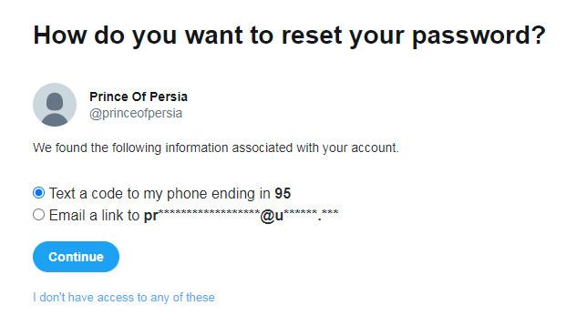 Akun Twitter Prince of Persia