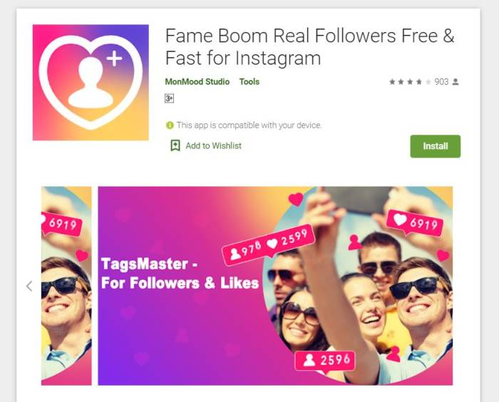 aplikasi menambah followers Instagram Fame Boom Real Followers