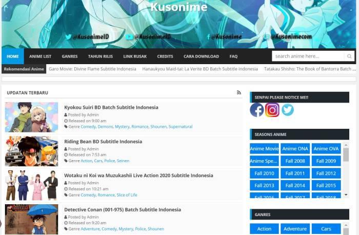 situs download dan nonton anime terlengkap Kusonime