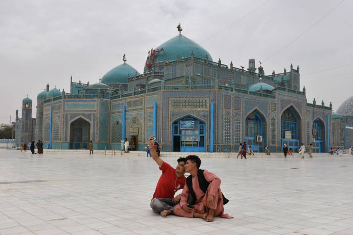 masjid biru, Mazar i Sharif, Afghanistan, Masjid Biru di Mazar-i-Sharif, masjid Mazar-i-Sharif
