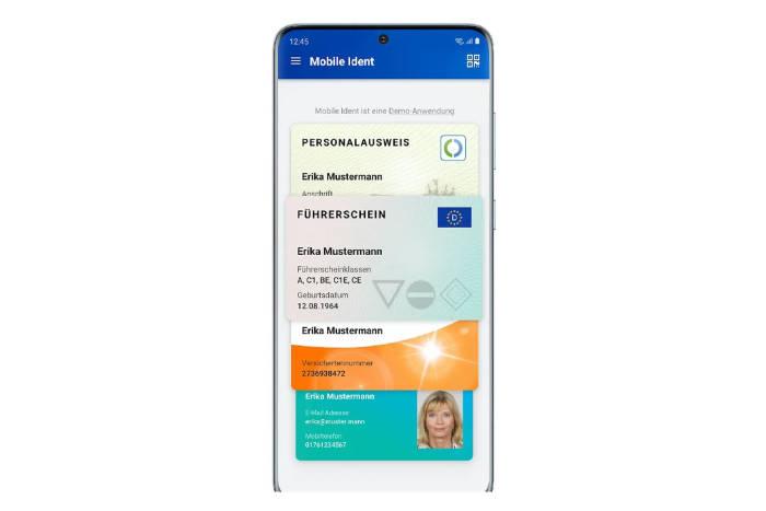Aplikasi KTP Jerman elektronik di smartphone Samsung