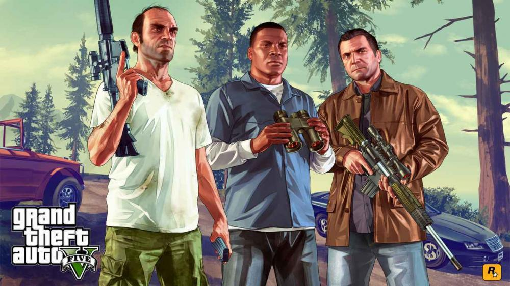 Ilustrasi karakter di game Grand Theft Auto V