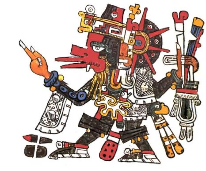 Ilustrasi dewa angin Ehecatl.