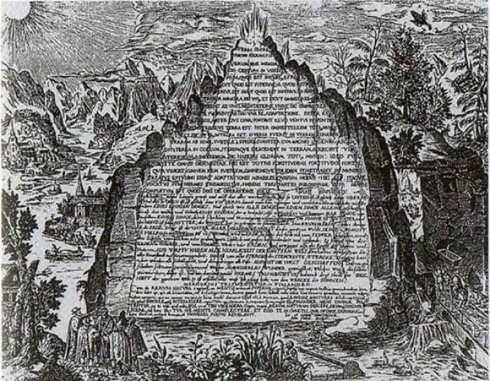Penggambaran Batu Zamrud abad ke-17.