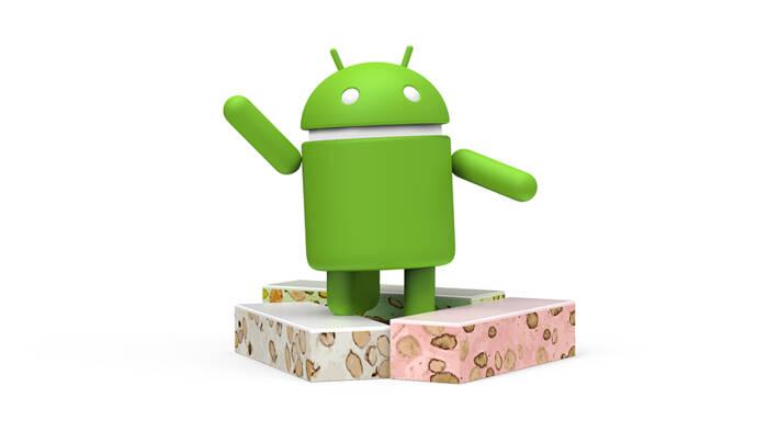 Ilustrasi sistem opreasi Android Nougat (7.1.1) buatan Google