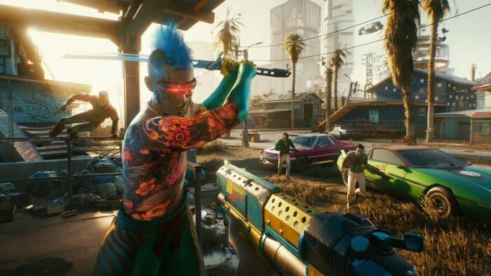Tampilan gameplay dari game Cyberpunk 2077 buatan CD Projekt Red