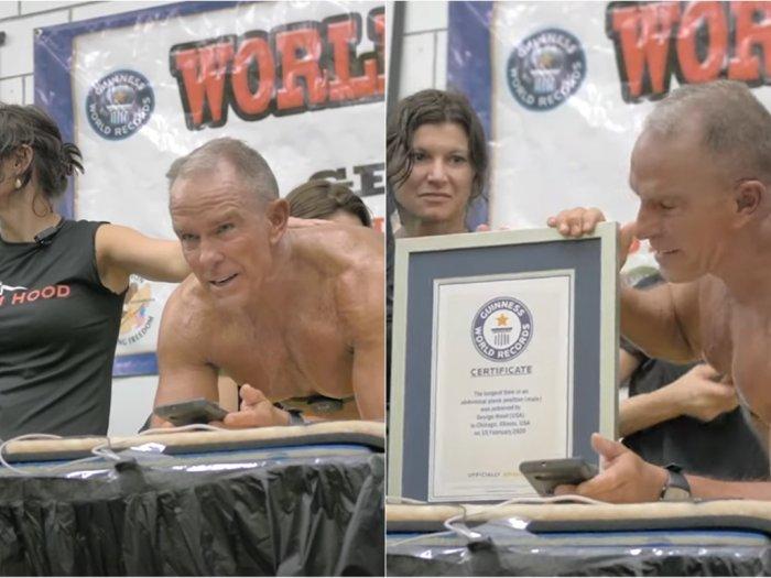 Pria Berusia 62 Tahun Ini Pecahkan Rekor Plank Selama 8 Jam