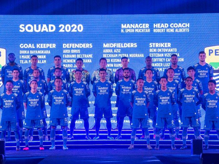 Skuad Persib Bandung Diperkenalkan Nih Daftar Namanya
