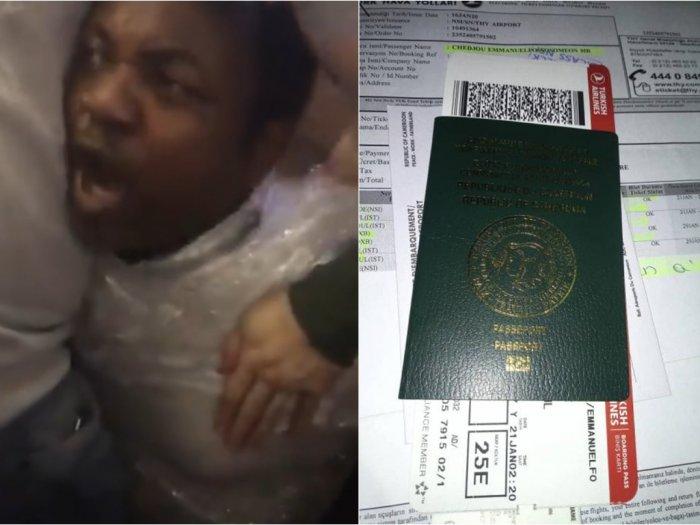 Tubuh Pria Ini Dibungkus Plastik karena Diduga Memalsukan Visa