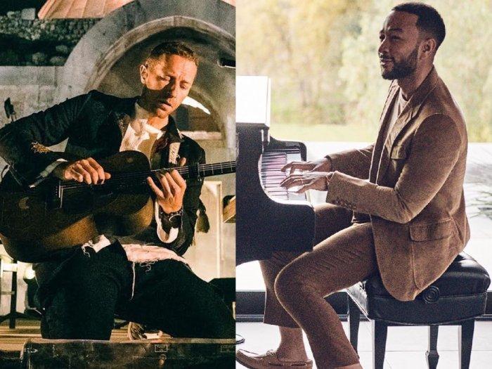 Chris Martin dan John Legend Hibur yang Lagi di Rumah via Live Instagram