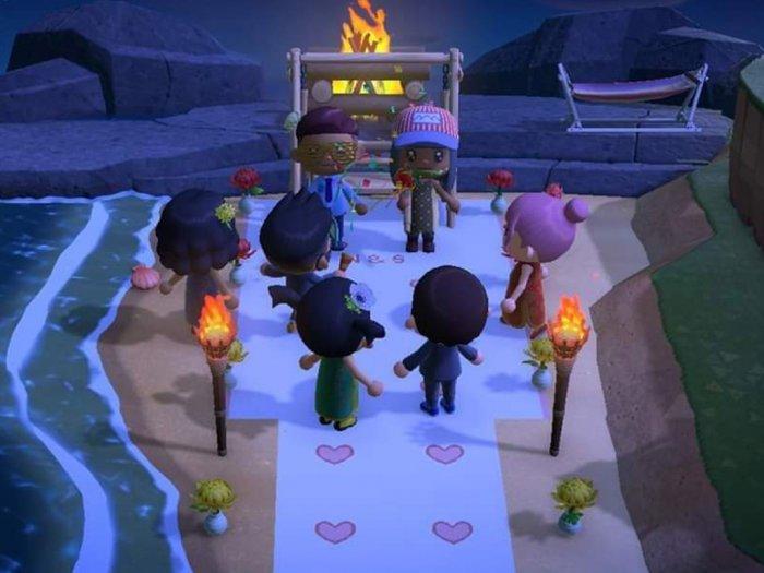 Pernikahan Ditunda Karena Corona Pasangan Ini Gelar Pesta di Animal Crossing