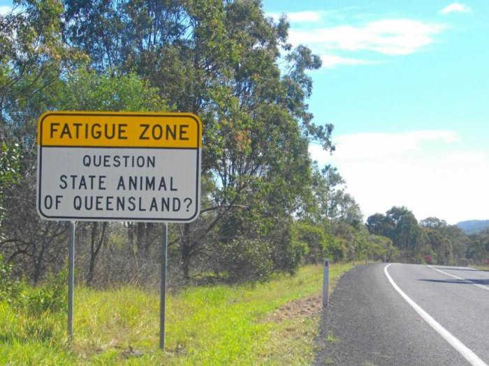 Fatigue Zone Jalan Panjang Tanpa Belokan di Australia