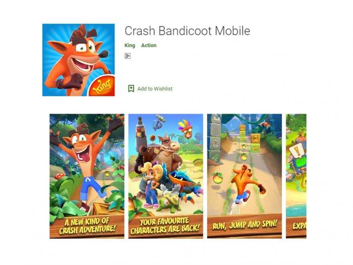 Sempat Bocor Kini Game Crash Bandicoot Mobile Sudah Resmi Dirilis