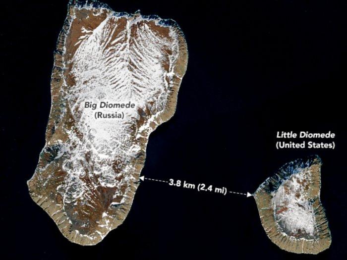 Kisah Pulau Tomorrow dan Yesterday Terpisah 38 Km Namun Berbeda 21 Jam