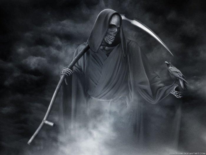 Grim Reaper Mitologi Iblis Pencabut Nyawa Berjubah Hitam