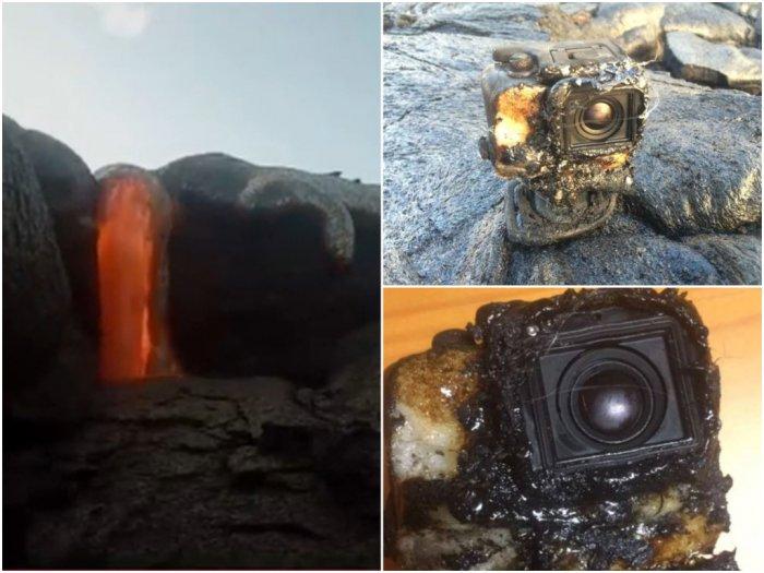 Diterjang Lava Panas Kamera GoPro Ini Tetap Merekam Video
