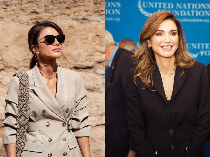 Yuk Intip Gaya Rambut Ikal Sepunggung ala Ratu Rania