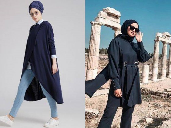 Ini 4 Inspirasi Fashion dengan Warna Biru Dongker untuk Samarkan Perut Buncit