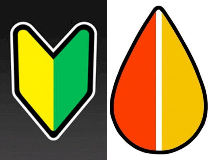 Simbol Unik sebagai 039Peringatan039 yang Menempel di Mobil Jepang