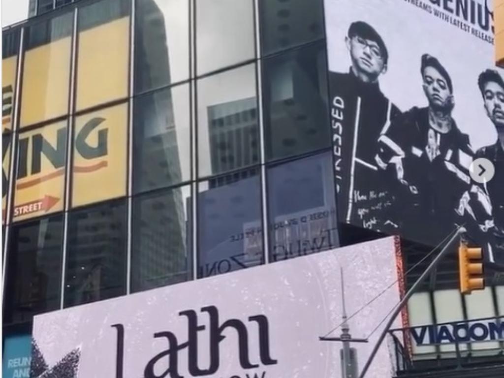 Bangga Wierd Genius Bikin Lagu Lathi Terpampang di Times Square New York