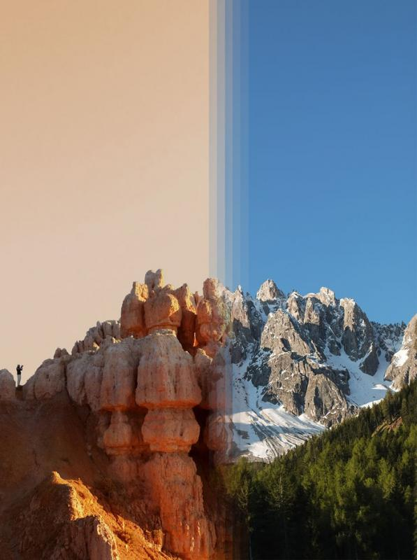 Kwikku, Bryce Canyon di AS vs Dolomites di Italia