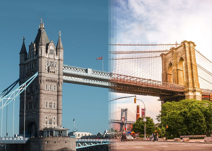 Kwikku, Tower Bridge di London vs Brooklyn Bridge di New York
