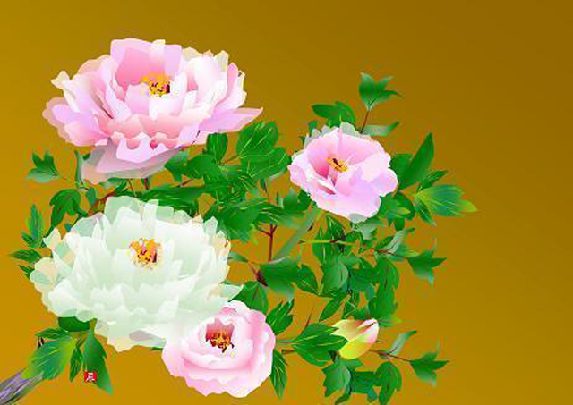 Kwikku, Lukisan Bunga Mawar