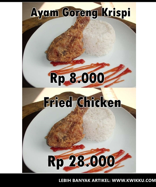 Kwikku, Ayam Goreng Krispi  Fried Chicken