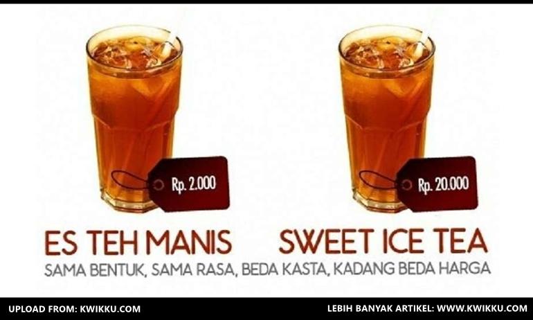 Kwikku, Es Teh  Sweet Ice Tea