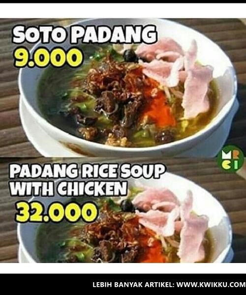 Kwikku, Soto Padang  Padang Rice Soup with Chicken